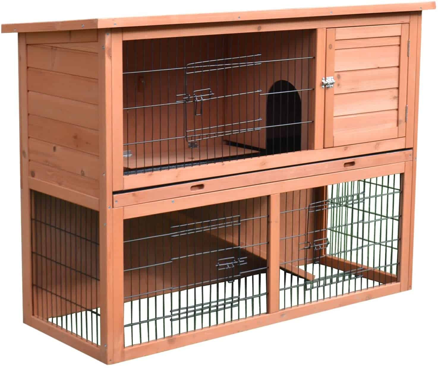 Pawhut 54 inches Compact Timber Bunny Hooch