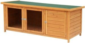 Pawhut 60 inches Timber Outdoor Rabbit Hutch