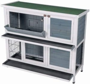 Best Life Two Floor Timber Outside and Inside Rabbit Cages