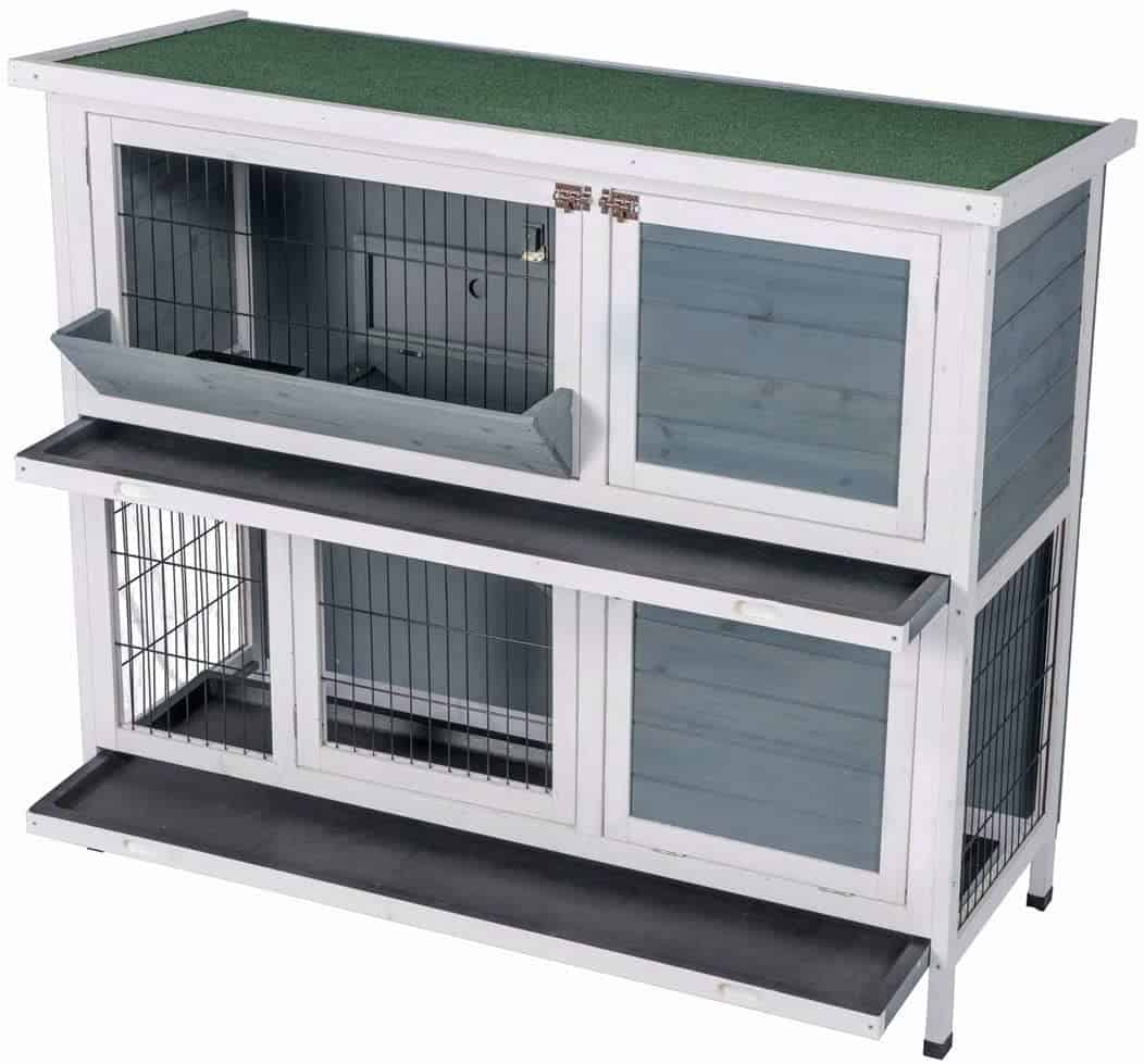 Best Life Double Floor Timber Outdoor and Indoor Hare Hutches Rabbit Cages