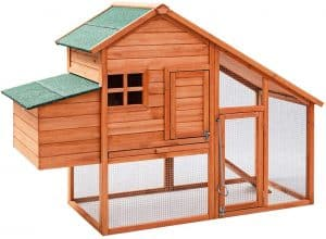 Tangkula 67 inches Outdoor Rabbit Hutch with Run