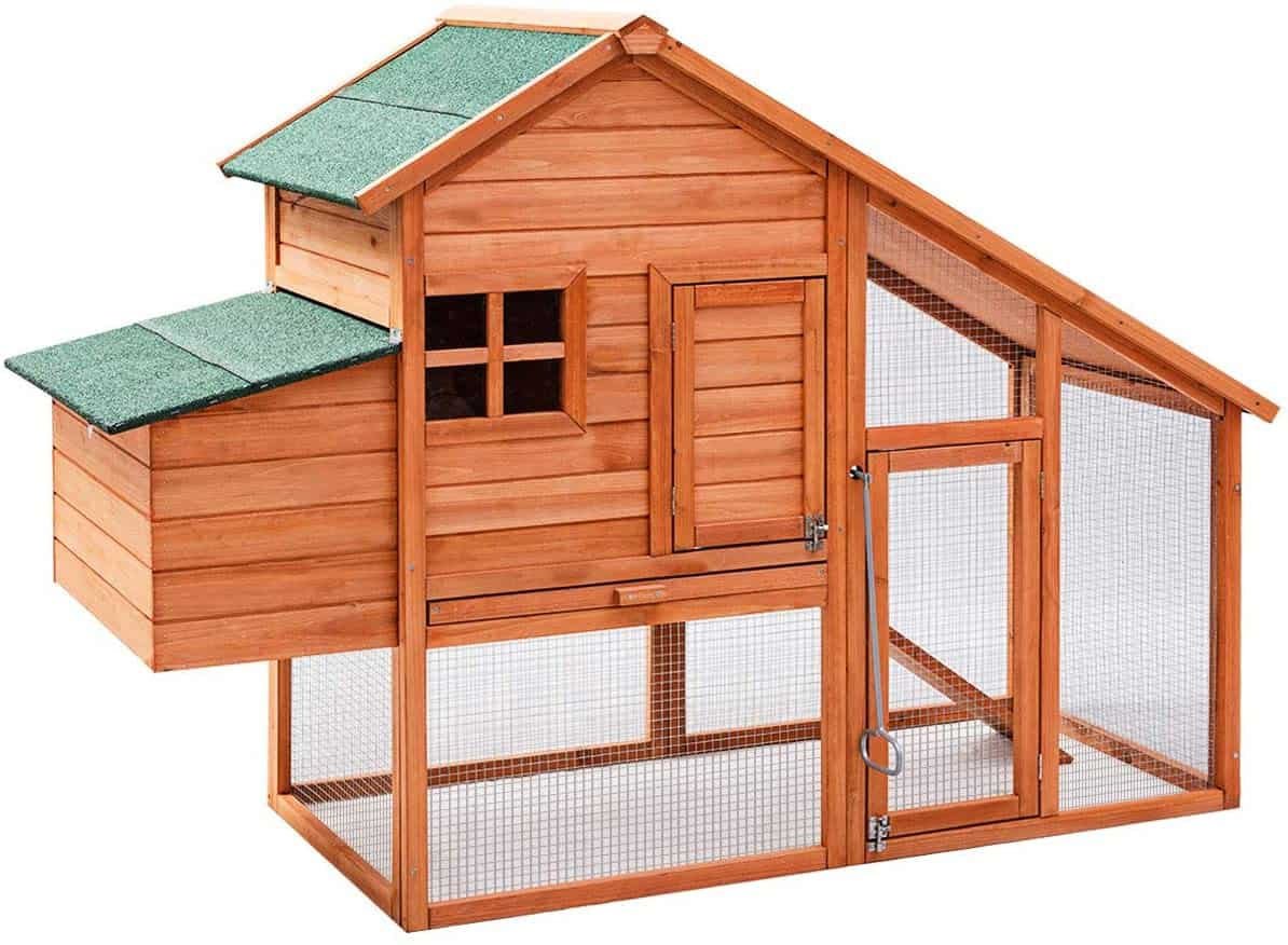 Tangkula 67 inches OutdoorRabbit Hutch with Run