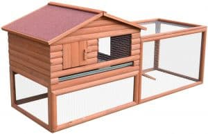 Pawhut 62 inches Large Good Outdoor Rabbit Hutch
