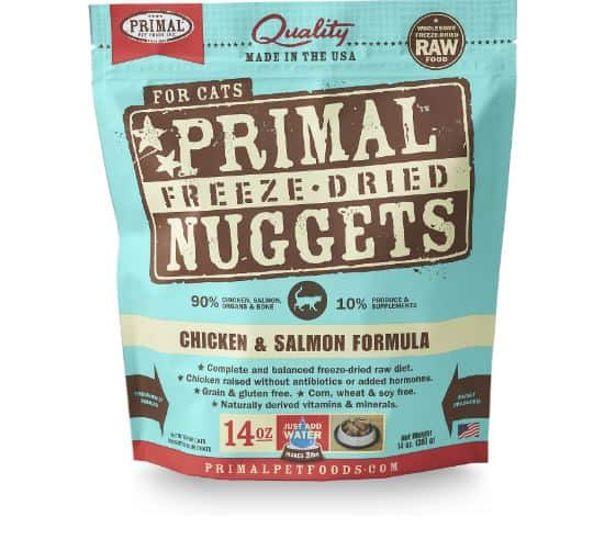 Feline Primal Chicken and Salmon Nuggets